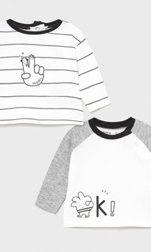 Set camisetas manga larga