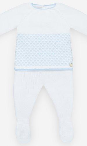 Conjunto polaina tricot