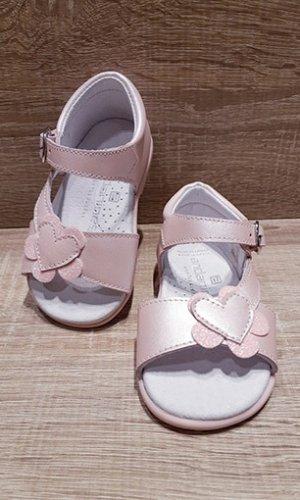 Sandalia nacarado rosa