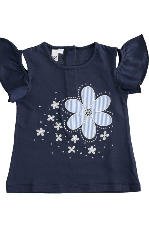 Camiseta con flor