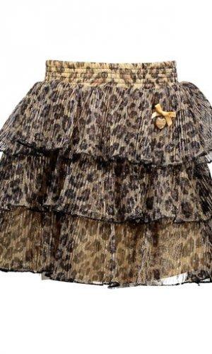 Falda de gasa leopardo